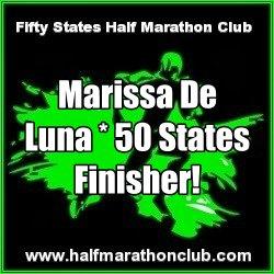 50 States Half Marathon Finisher Marissa De Luna