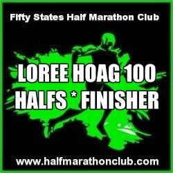 Loree Hoag Finishes 100 Half Marathons