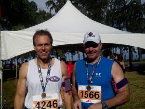 Stephen Weber finishes 50 States Half Marathon Challenge in Hawaii at the Hapalua half marathon