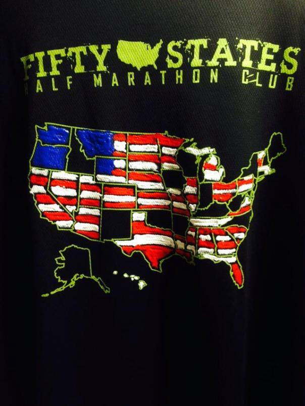 50 States Half Marathon Challenge Club Shirt