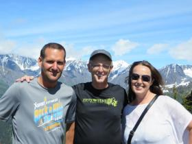 Donna David and Andrew in Alaska