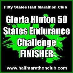 Gloria Hinton Finisher 50 states