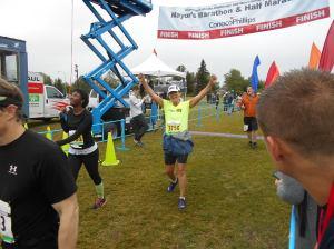 Laura Qualman 50th state finish