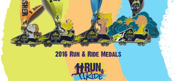 Run and Ride medals